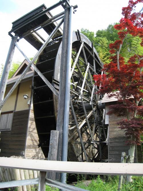 鴨方町の水車