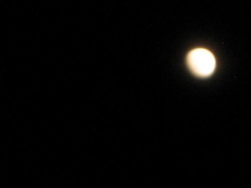 夜空のお月様