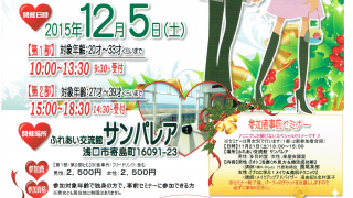 H27年 井笠圏域結婚推進事業 第3弾 クリスマスカップリングパーティ【浅口市寄島町】