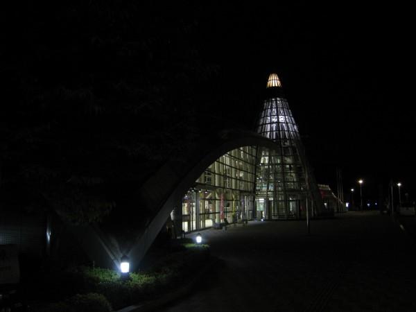 ライトアップ井原駅