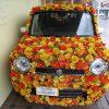笠岡駅にお花が咲いた車を発見したぞ~!?不思議な光景・・・珍百景(Flower Art Car)