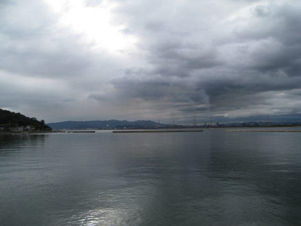神島を一望