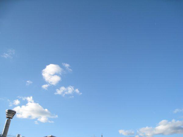 天気は晴れ
