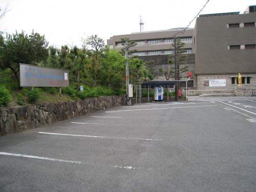 田中美術館駐車場の前の風景