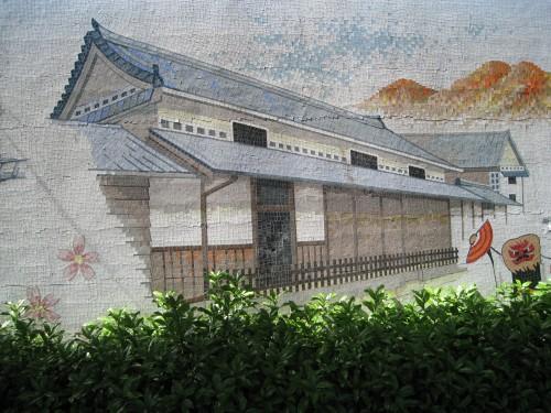 矢掛駅の壁画