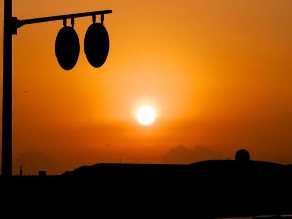 ロマンチックな夕日