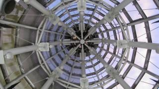 井原駅にあるシンボルタワー内の様子を見てきた・・・ある物が天井にあった!?【いかさつーフォト】
