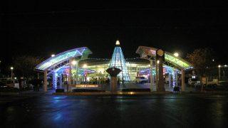光が織りなすショーにご案内。そう、ルミナリエ!いや、~ミナクルネ~【井原駅周辺】